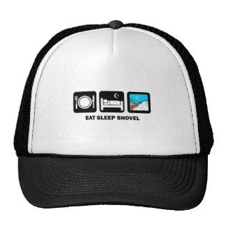 eat sleep shovel trucker hat