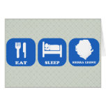 Eat Sleep Sierra Leone Cards