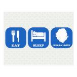 Eat Sleep Sierra Leone Post Cards