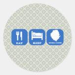 Eat Sleep Sierra Leone Round Stickers