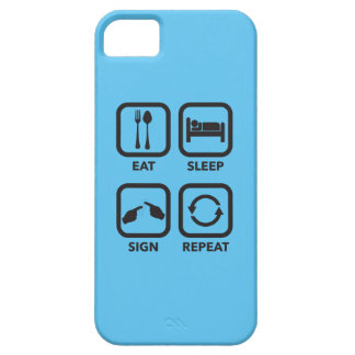 Eat. Sleep. Sign. Repeat.   ASL phone case. iPhone SE/5/5s Case