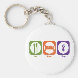 Eat Sleep Sing Keychain