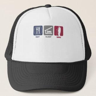 Eat Sleep Sing - Male Singer Trucker Hat