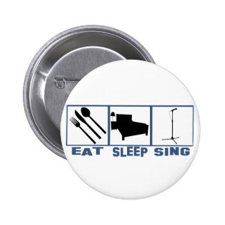 Eat Sleep Sing Mic and  Stand Pins
