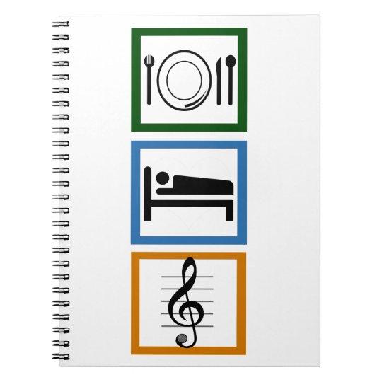 Eat Sleep Sing Notebook