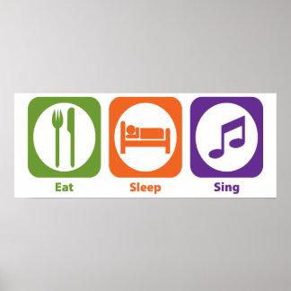 Eat Sleep Sing Print