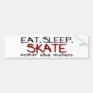Eat Sleep Skate Bumper Sticker