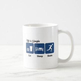 Eat, Sleep, Skate Coffee Mug