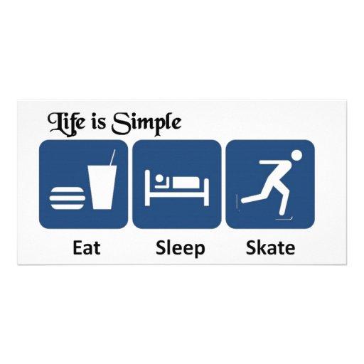 Eat, Sleep, Skate Photo Card