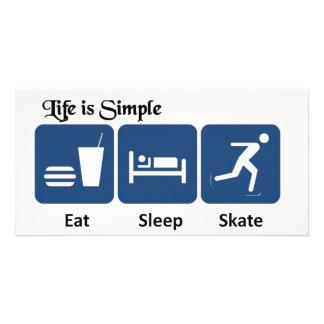 Eat Sleep Skate Photo Cards