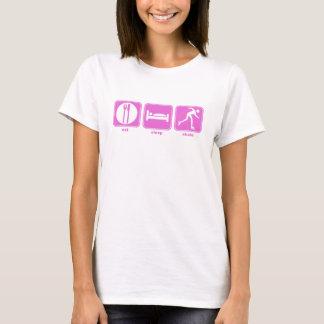 eat sleep skate pink T-Shirt