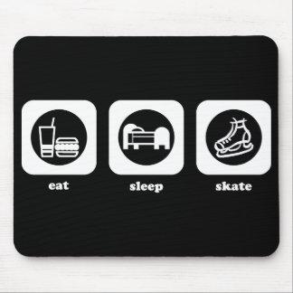 Eat Sleep Skate (White) Mouse Pad