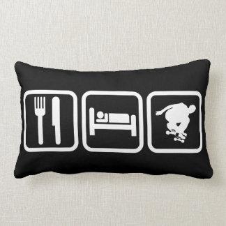 Eat Sleep Skateboard Pillow