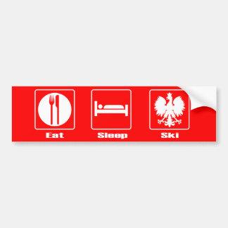 Eat. Sleep. Ski. Bumper Stickers