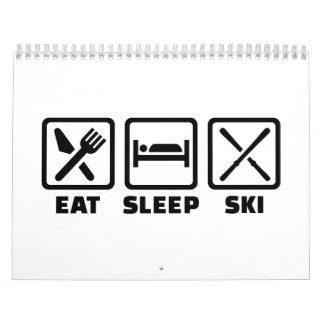 Eat Sleep Ski Wall Calendar