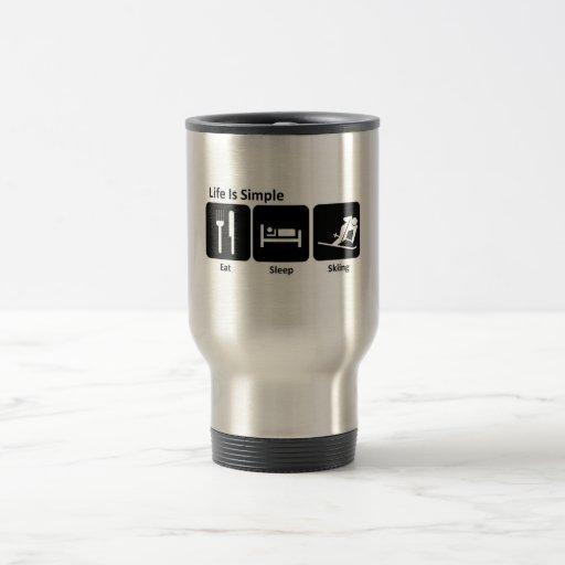 Eat, Sleep, Ski Coffee Mug