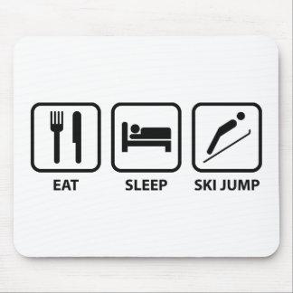 Eat Sleep Ski Jump Mouse Pad