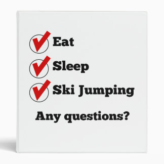 Eat Sleep Ski Jumping Checklist Vinyl Binder