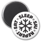 Eat Sleep Ski Repeat Magnet