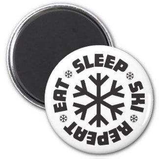 Eat Sleep Ski Repeat Magnet