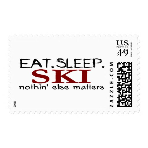 Eat Sleep Ski Stamps