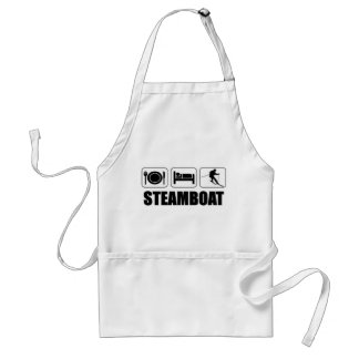 Eat sleep ski steamboat adult apron