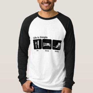 Eat, Sleep, Ski T Shirt