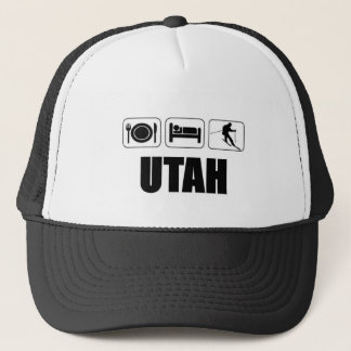Eat sleep ski Utah Trucker Hat