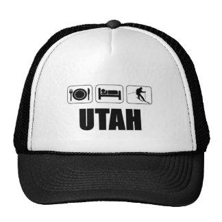 Eat sleep ski Utah Trucker Hat