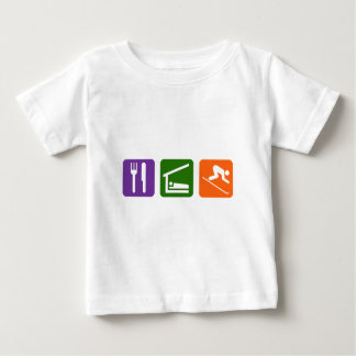 Eat Sleep Skiing Baby T-Shirt
