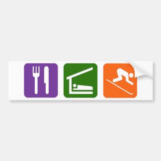 Eat Sleep Skiing Car Bumper Sticker