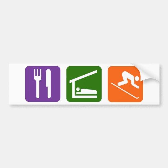 Eat Sleep Skiing Bumper Sticker