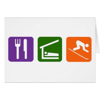 Eat Sleep Skiing Card