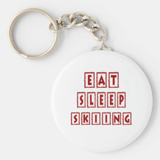 Eat Sleep Skiing Key Chain