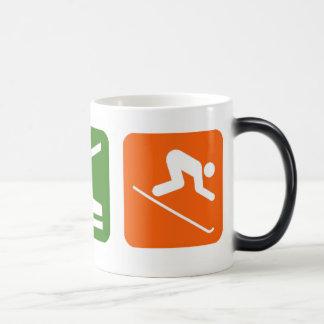 Eat Sleep Skiing Magic Mug