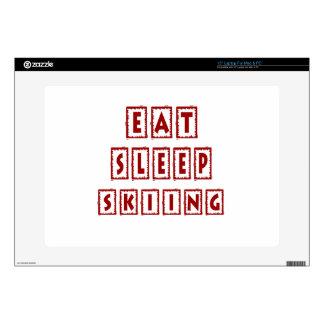 Eat Sleep Skiing Laptop Skin