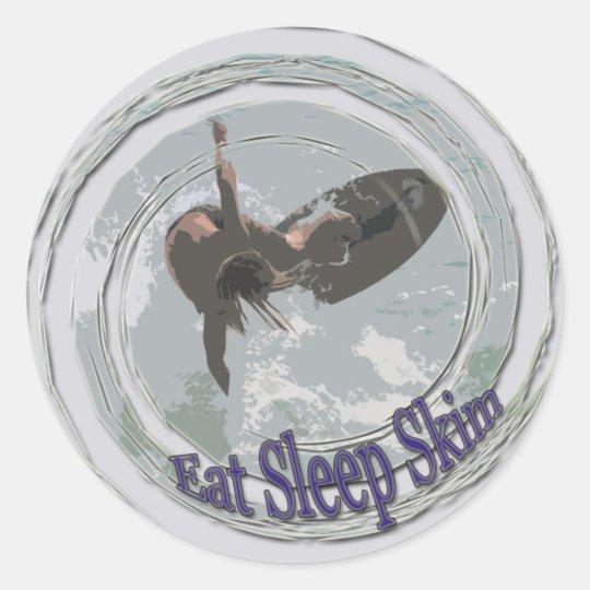 Eat,Sleep,Skim Classic Round Sticker