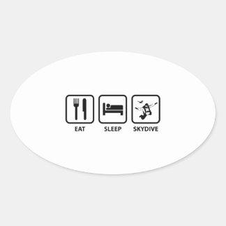 Eat Sleep Skydive Oval Sticker