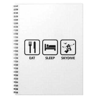 Eat Sleep Skydive Spiral Notebook