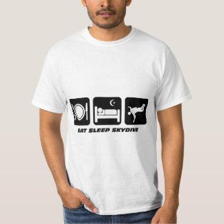 eat sleep skydive tee shirt