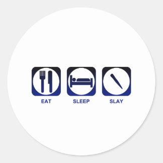 Eat Sleep Slay Classic Round Sticker