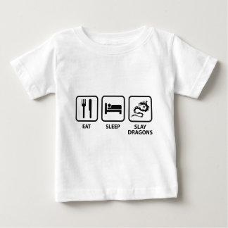 Eat Sleep Slay Dragons Baby T-Shirt