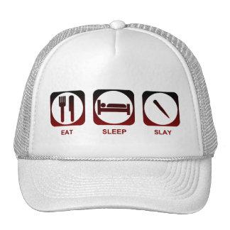 Eat Sleep Slay Trucker Hats
