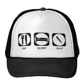 Eat Sleep Slay Trucker Hat