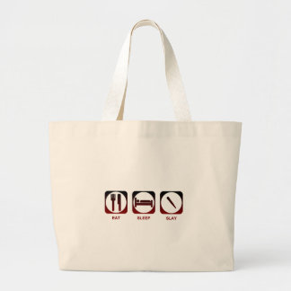 Eat Sleep Slay Large Tote Bag