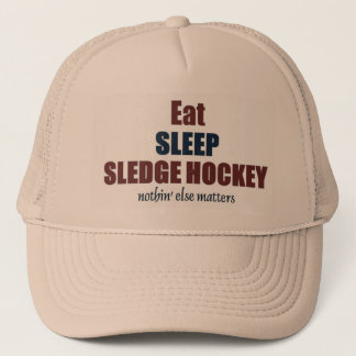 Eat sleep Sledge Hockey Trucker Hat