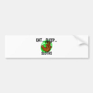 Eat Sleep SLOTHS Bumper Sticker