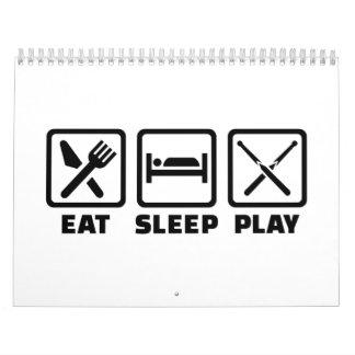Eat sleep snooker calendar