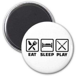 Eat sleep snooker magnet