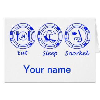 Eat Sleep Snorkel Card